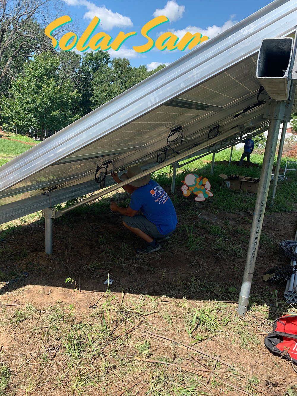Installing a Solar Panel Array of Panels in Blue Springs MO by Solar Sam Professional Residential Commercial and Agricultural Installer in Missouri and Illinois