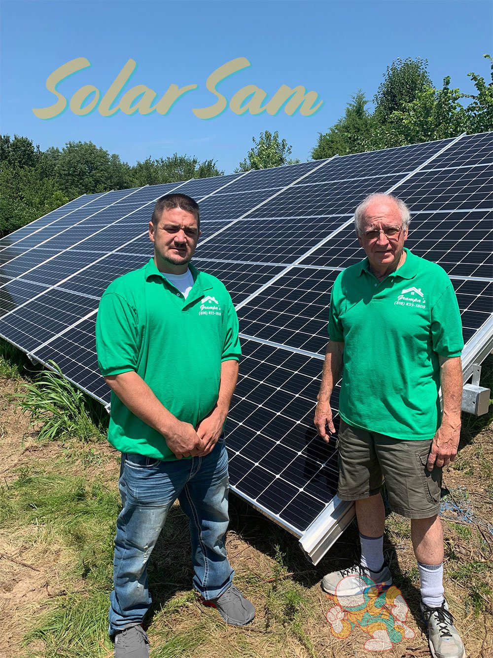 Photovoltaic Solar System Installation in Blue Springs MO by Solar Sam Professional Solar Panels Installers for Single Family House Ground Mount