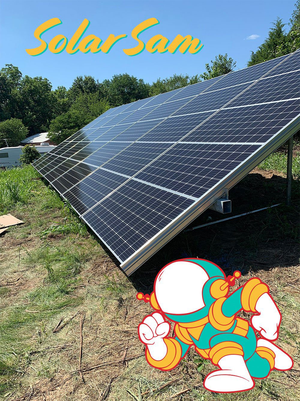 Photovoltaic Solar System Installation in Blue Springs MO by Solar Sam Professional Solar Panels Installers for Single Family House Ground Mounted