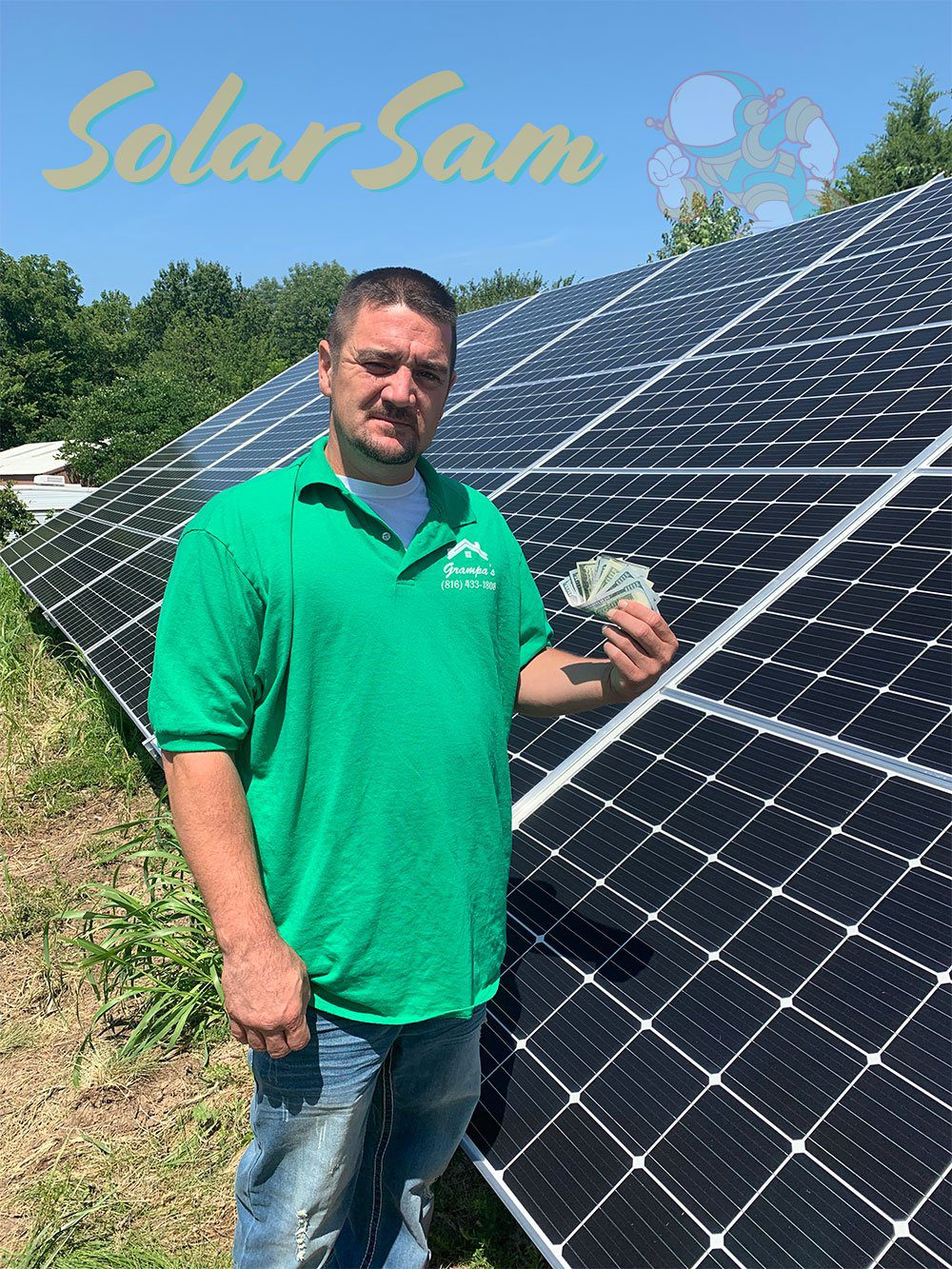 Solar Panels Installation in Blue Springs Missouri by Solar Sam Professional Solar Panel Installer for Single Family Home Saving Money with Green Electricity