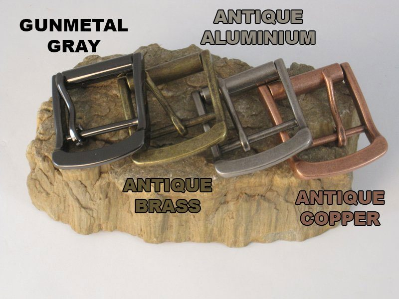 The Super Belt Buckles Gunmetal Gray Antique Aluminium Antique Copper and Antique Brass Strongest Belt that Won't Break