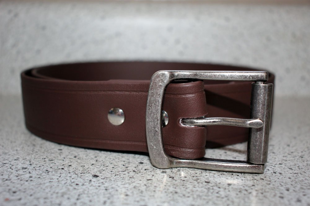 Brown Super Belt with Antique Nickel Buckle 1.5