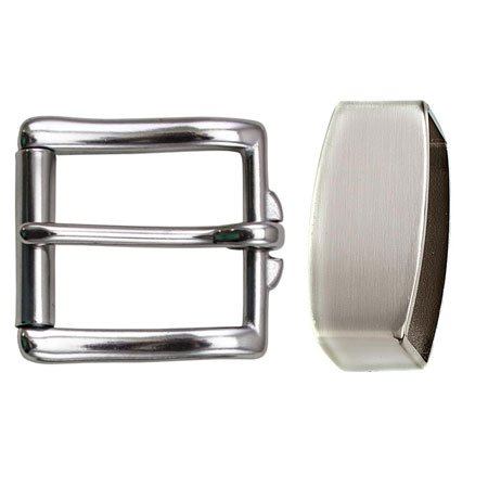 Solid Stainless Steel Single Bar Roller Buckle with Keeper Thick Tongue Industrial Strength No Patina Rust The Invincible Mens Super Belt that will Last a Lifetime