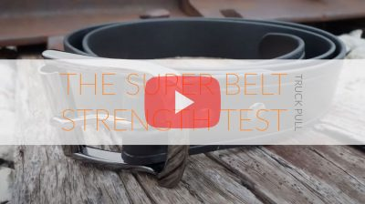 The Invincible Super Belt Strength Test Truck Pull Will Not Stretch No Stitches Strong Indestructible Mens Belts American Made youtube
