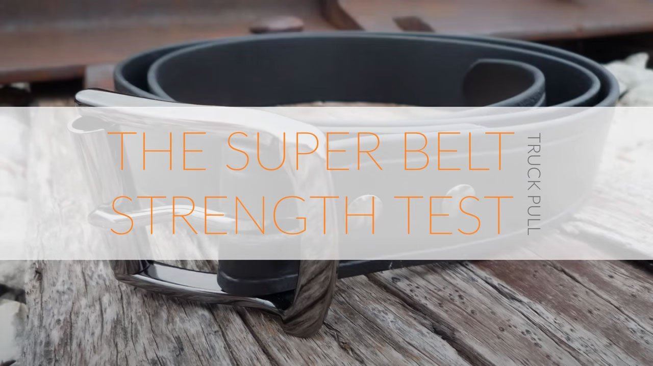 The Invincible Super Belt Strength Test Truck Pull Will Not Stretch No Stitches Strong Indestructible Mens Belts American Made