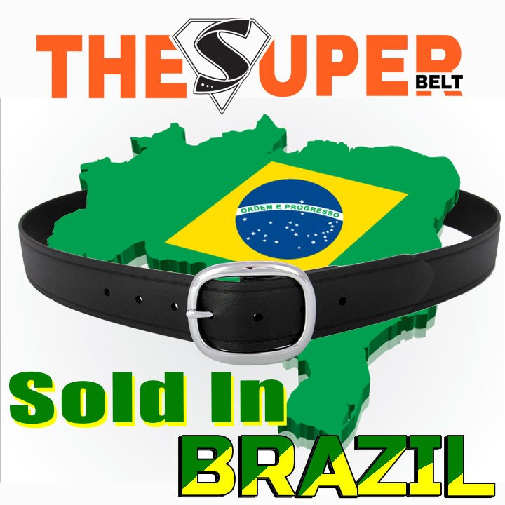 The Super Belt just Sold for the First Time in Brazil Indestructible and Invincible Lifetime Warranty Belt Made in America to Last Forever Leather Nylon