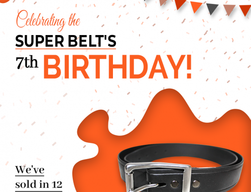 Celebrating 7 Years of making The Super Belt! We've Sold in 12 Countries!