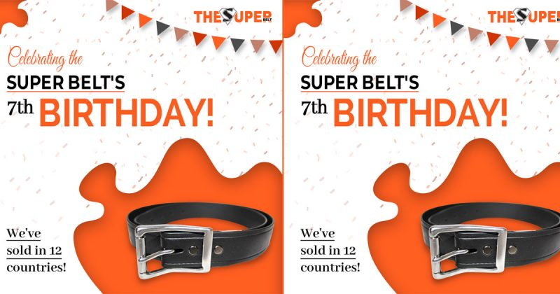 The Super Belt 7th Birthday Seven Years Making Strongest Mens Belt Made in America Unbreakable Wont Stretch Not Leather Nylon International video