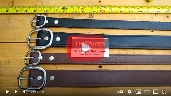 Indestructible Super Belt Strongest Work Belt Won't Stretch or Break No Stitches Strong Indestructible Mens Belts American Made Best Leather Nylon Roll Guns Firearms Conceal Carry youtube
